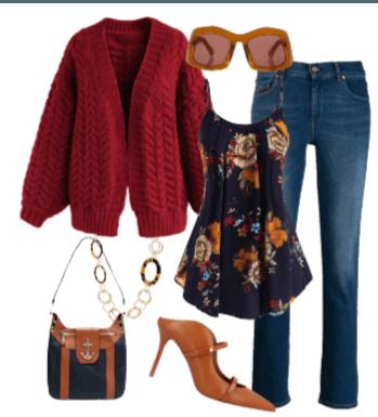 navy & red autumn