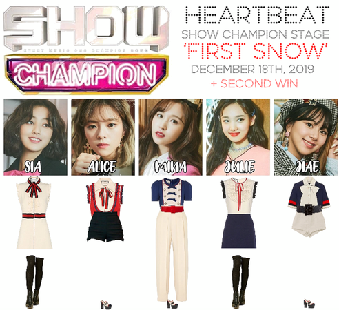 [HEARTBEAT] SHOW CHAMPION 121819 STAGE | 'FIRST SNOW' + SECOND WIN