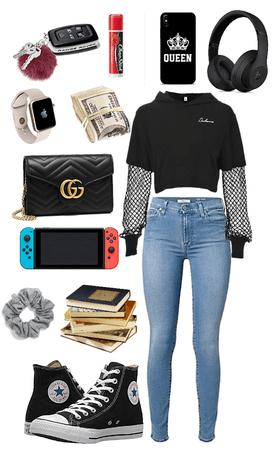 e-girl goes to high school