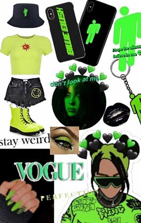 billie eilish • green • black