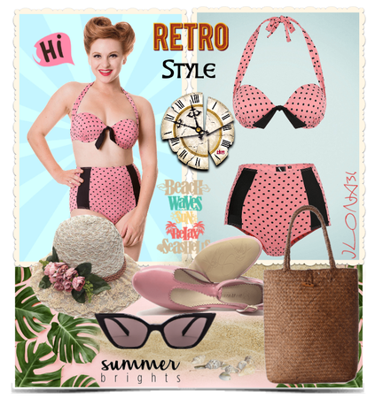 Vintage Swimsuit 50s Pin-up