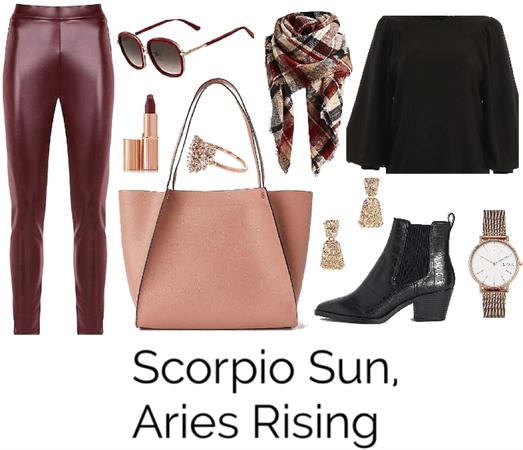 Scorpio Sun, Aries Rising