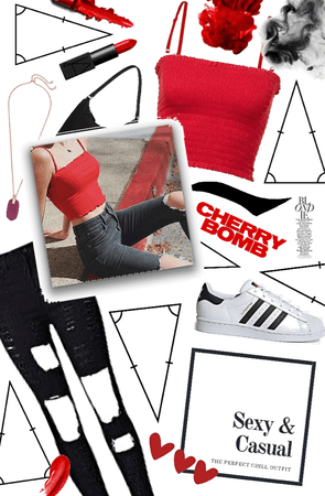 casual and sexy red