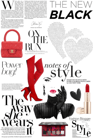 Fashionable Magazine Page Red Beauty