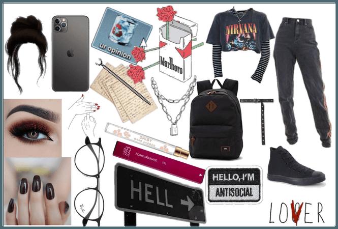 Back to school - grunge