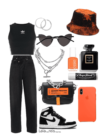 Black & Orange Outfit