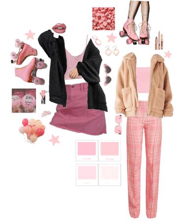 roller skating in pink
