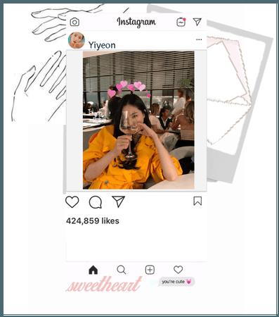 Yiyeon instagram post hello everyone.<3  7/29/20