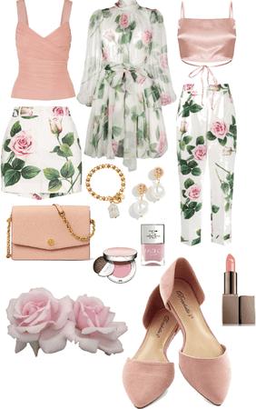 3 pink rose