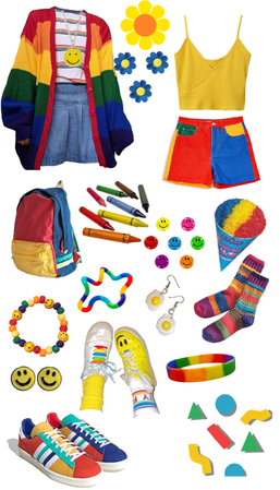 primary color kidcore
