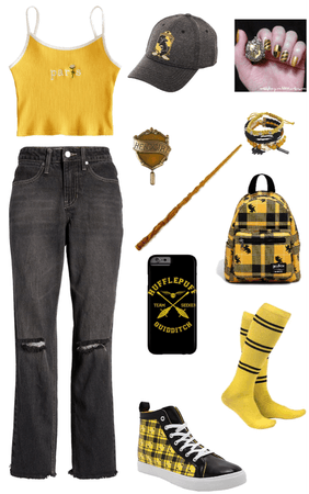 modern hufflepuff everyday outfit