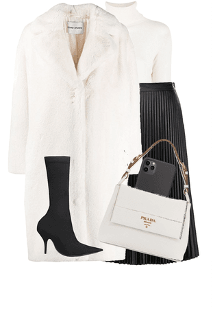 Big Coat- Black and White Theme