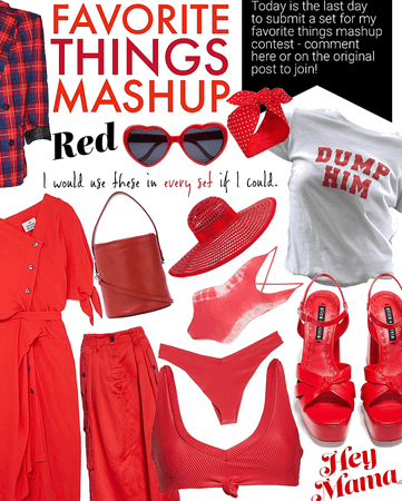FAVORITE THINGS | Red | @abbymae #contest