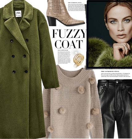 Warm fuzzy coat