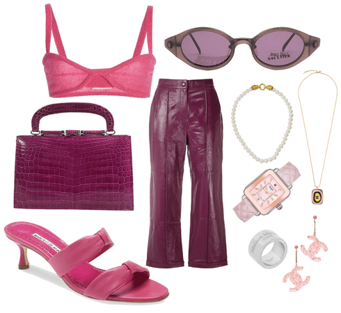 Pink Chanel Outfit