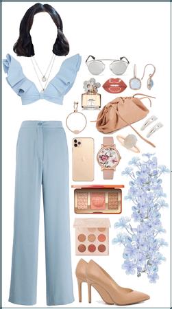 Light blue look