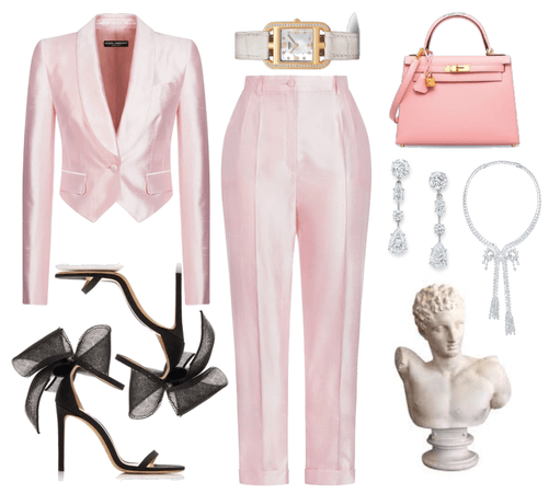 baby pink coctail outfit