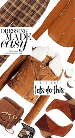 Effortless Style: Retro Plaid And Tan