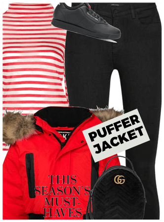 How to wear puffed jacket on a vacation