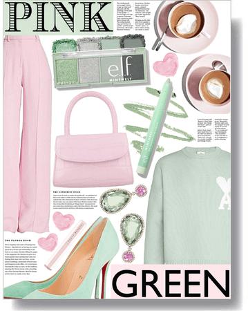 pink & green mood 💗💚