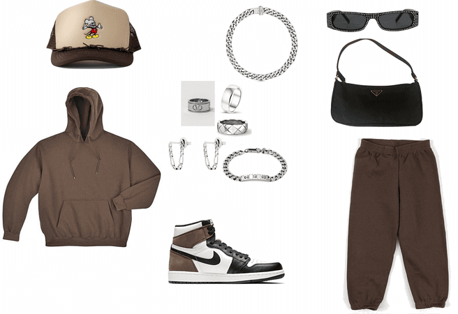 brown earth tone fit