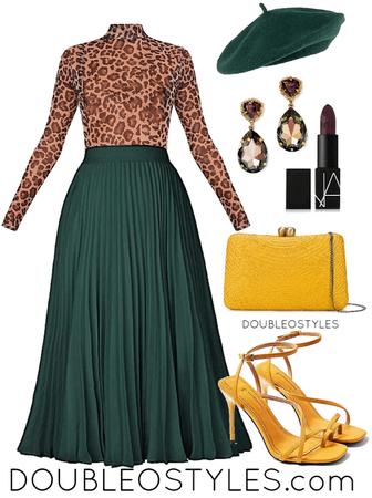 Emerald Green & Leopard