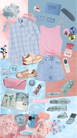 pink and blue, forever two