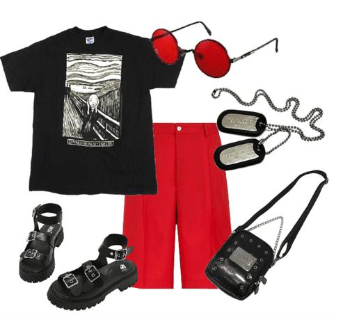 Hot day grunge red