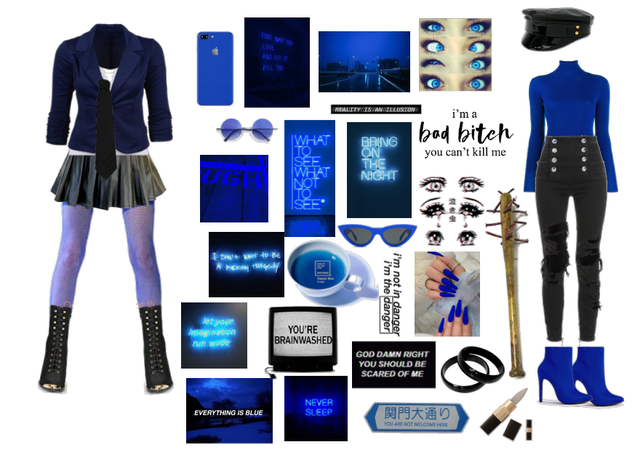 blue/black mastermind moodboard pt 5