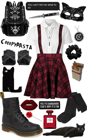 creepypasta: OC black cat outfit 1