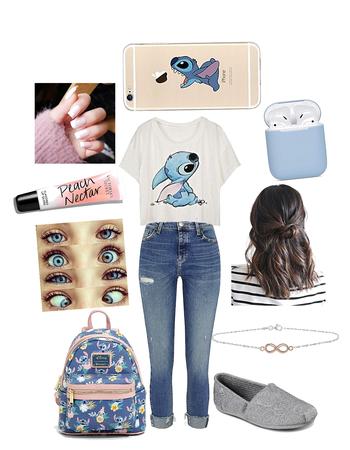 Disney School Outfit: Stitch Fan