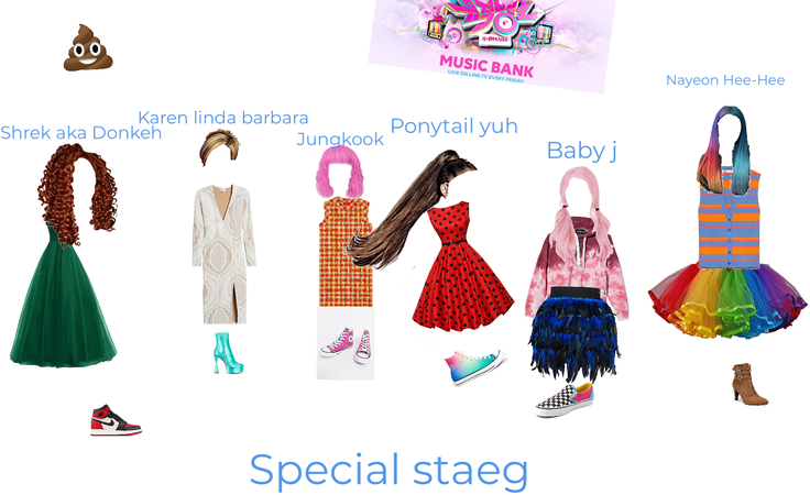 SPECIAL STAGE INCLUDING UR FAV MEMBERS.     PONYTAIL YUH: LIKE ME!