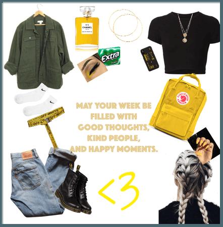 yellow cute spring break style