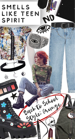 back to school grunge style