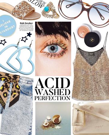 acid washed perfection | denim shorts style
