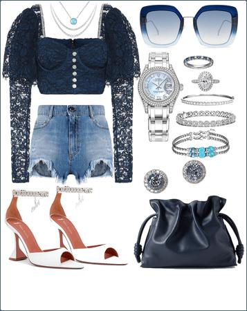 Blue Night and glamorous💙💎