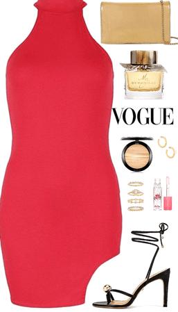 Sexy Glam Date Night Red Dress