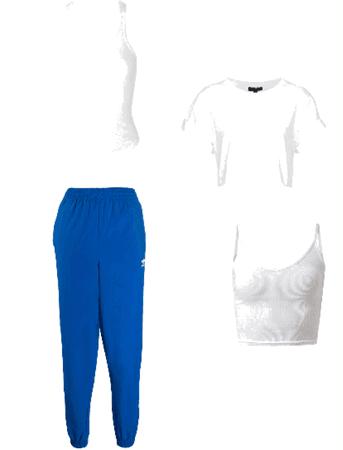 Outfit gym pantalón azul