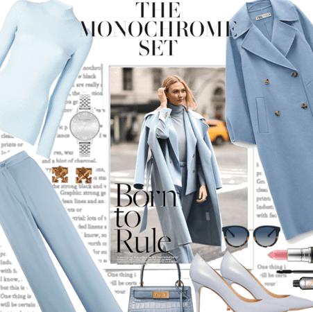 Monochroming a blue