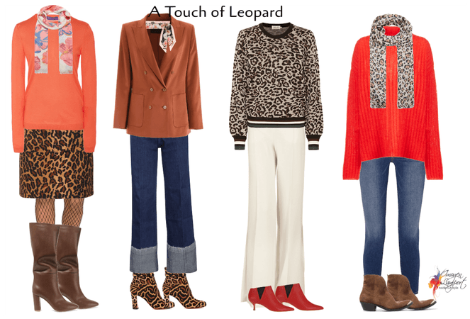 A touch of leopard to your winter outfit