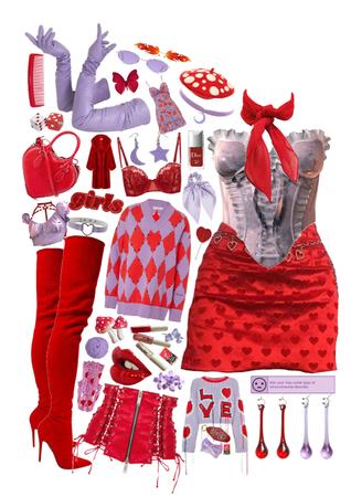 lavender + scarlet