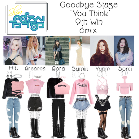 6mix - Show! Music Core Goodbye Stage For 'You Think'