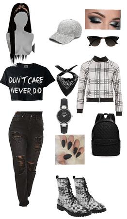 black rock Fashion lady gang