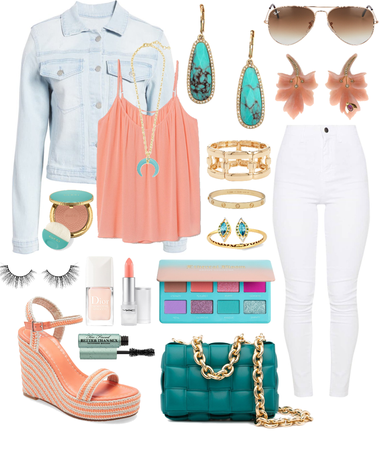 Coral & Turquoise •Comfy Chic Coastal Vibes•