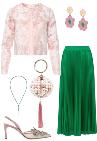 pink and green works together