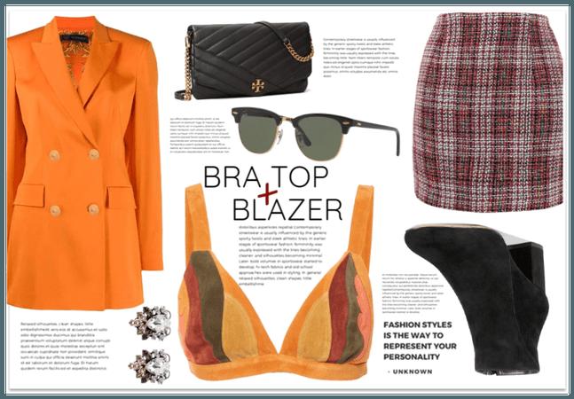 Bra Top + Blazer