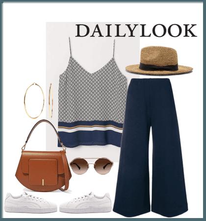navy culottes