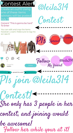 pls join @leila314 contest!!💓