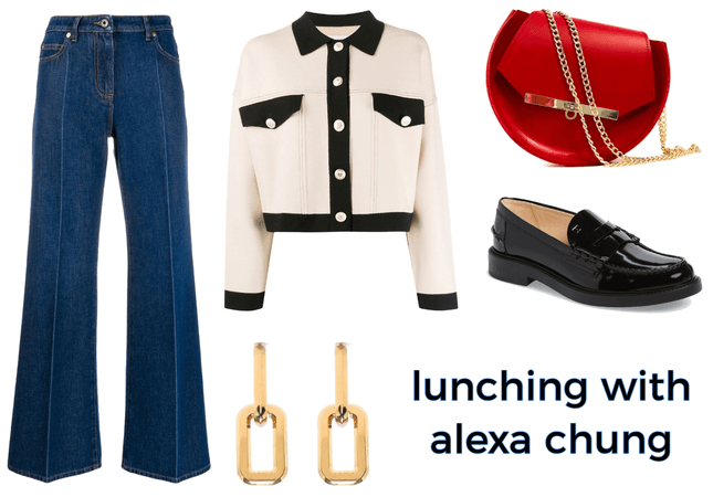 Lunching with Alexa Chung