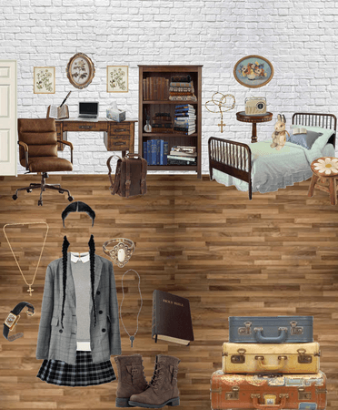 Dark Academia Room and Outfit
